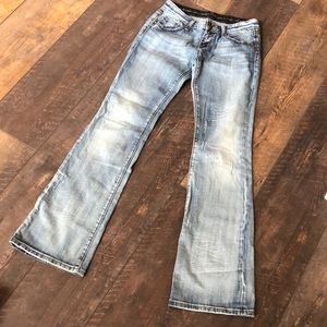 ReRock Express Distress Destroy Boot Jeans 6Long